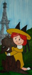 Madeline Bookmark by InkArtWriter