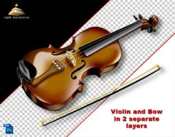 HJR Violin and Bow by HJR-Designs