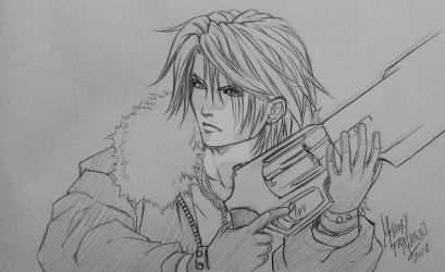 WIP: Squall Leonhardt by MemoryFragment
