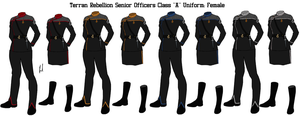 Terran Rebellion Senior Officer 'A' Uniform Female by docwinter