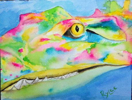 Colorful Croc by xxhxcorexx