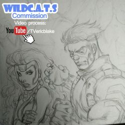 WildC.A.T.s Comiission Pencil WIP by E-Blake