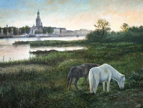 Tranquil Evening Oil Painting by Entar0178