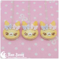 Cookie rabbit necklace by CuteMoonbunny