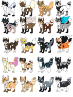 Crack Kitty Adopt Batch ~Closed~ by Little-Shop-Of-Echos