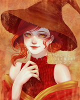 Fire Witch (Art Trade) by Ellioranthe