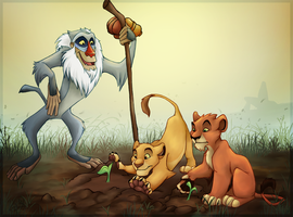 Rafiki's Growth Lesson by charfade