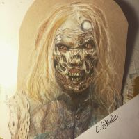 Zombie from TWD by Mizzzen