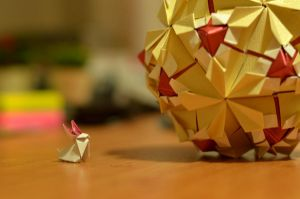 Rabbit and the Origami Globe by emiss77