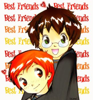 Harry Potter and Ron Weasley by kleinmeli
