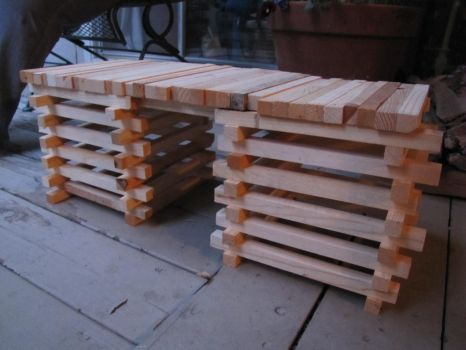 5 Minute Wooden Bench by Capt-Topknot
