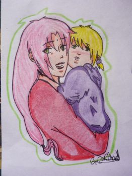 Mom and Daugther by Zarita-chan