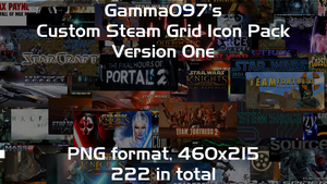 Steam Grid Icon Pack: Version One by gamma097