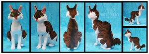 Jasper the Egyptian Mau Custom Plush by Nazegoreng