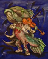 Carp With a Fiddle by nellems
