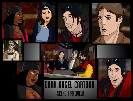 Dark Angel Cartoon, 1 prieview by deanfenechanimations