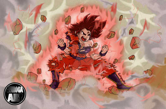 commission of a goku girl by QuirogaArt
