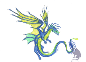 Blue Dragon by Flying-With-Dragons