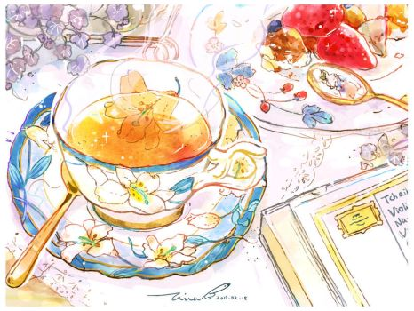 #154 Red Tea with Classical Music by tinashan