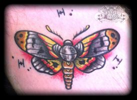 Death Star Moth by state-of-art-tattoo