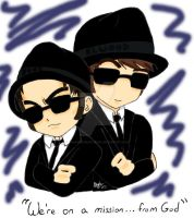 Jake and Elwood by anonymousartist89
