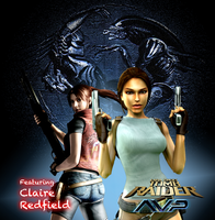 TRaider AVP - AVP Stone Pic and Claire Redfield by Big-Al-Son86