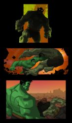Hulk and the Abomination by dan-duncan