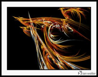Flaming dragon by ianweller