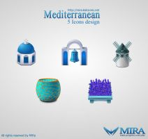 Mediterranean icons design by silencemira