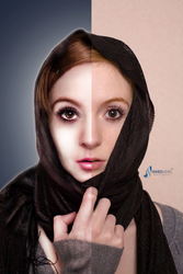 retouching nikx before and after by 27mad-gfx