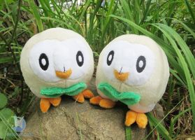 Pokemon Rowlet Plushies by dollphinwing