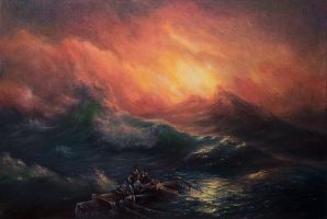 After Aivazovsky, The Ninth Wave by BozhenaFuchs