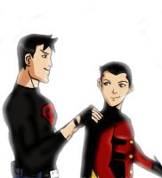 Robin and Superboy 2 by Axels-inferno