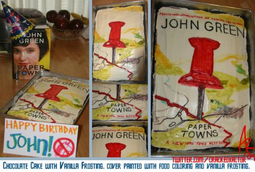 Paper Towns Cake by msfurious