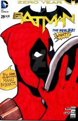 Batman Sketch Cover Deadpool by mentaldiversions