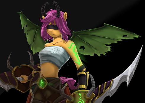 [Commission] Scootaloo-Demon Hunter (WOW) by RedheadFly