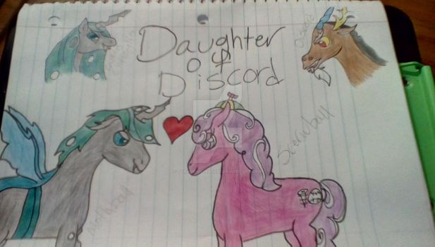 A daughter of discord fan art by me by TaraDragonheart