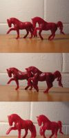 Wax Horse sculpture WIPs by akuinnen24