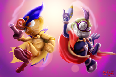 GENO AND FAWFUL (Fighter and ECO fighter ) by kritken