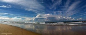 Panorama Ocean Clouds by AwakenendByDreams