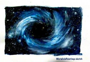 Black hole by WormholePaintings