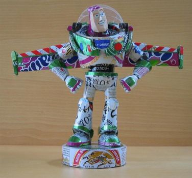 Buzz Lightyear Can Sculpture by SavantiRomero