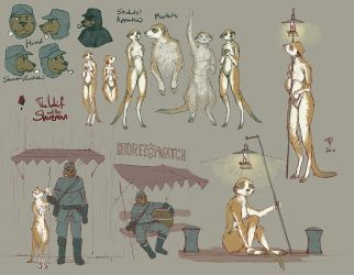 Waif and Shoreman sketches by Pyrosity