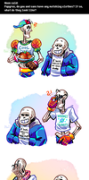 Undertale ask blog: matching shirts by neonUFO