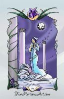 The High Priestess Tarot Card by TwoHorizonsArt