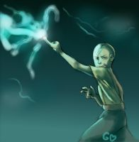 Aang: Lightning Redirection by Gorseheart