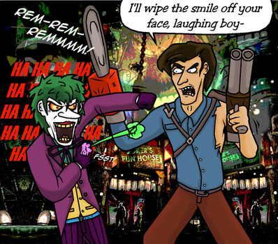 Ash J. Williams vs the Joker REDUX by The-Russian-Gestapo