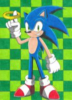 Sonic With A Ring by Krisztian1989