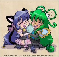 Best Friends Forever Deliliah and Lotus by MaryBellamy
