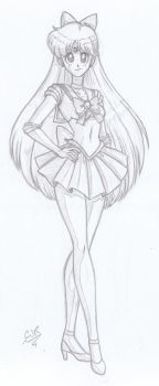 Sailor Venus Sketch by X-Cross